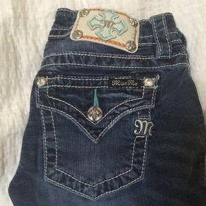 Miss Me cuffed skinny jeans size 25, inseam 31.
